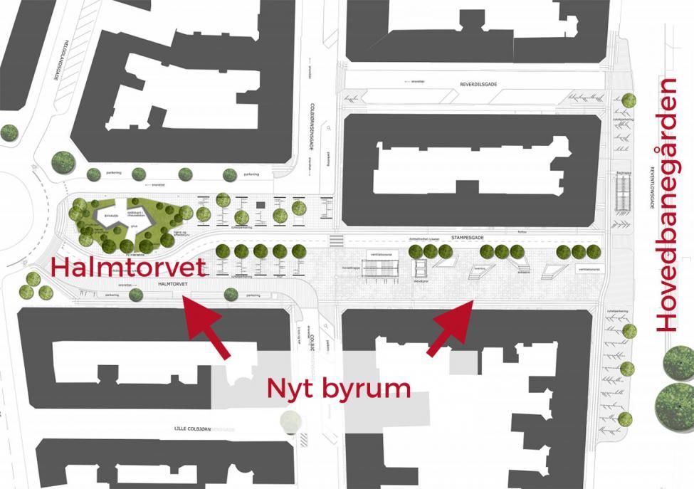 plantegning metroforplads københavns hovedbanegård