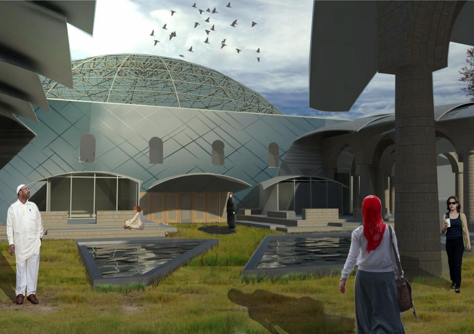 Ny moske Nørrebroparken illustration