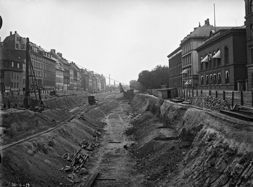 1917 Nørre Voldgade gravet op