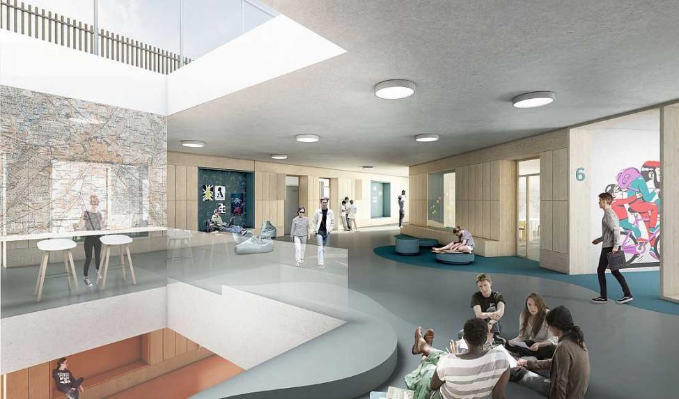 ny islands brygge skole atrium