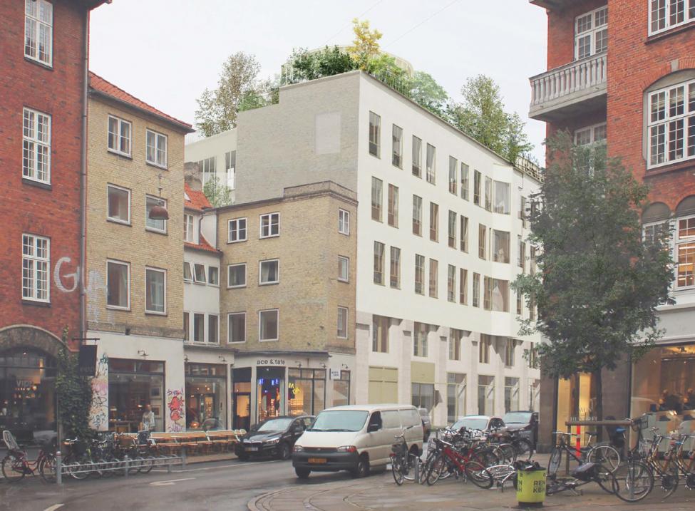 byggeri i ny østergade set fra christian ixs gade