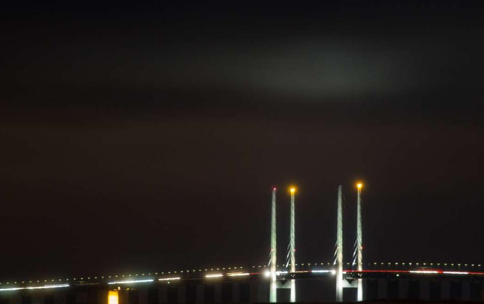 øresundsbroen adventlys