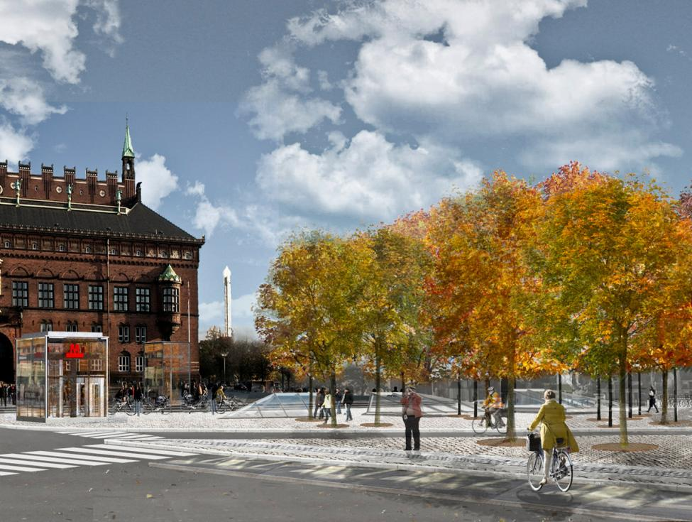 Metro cityring forplads Rådhuspladsen 2019