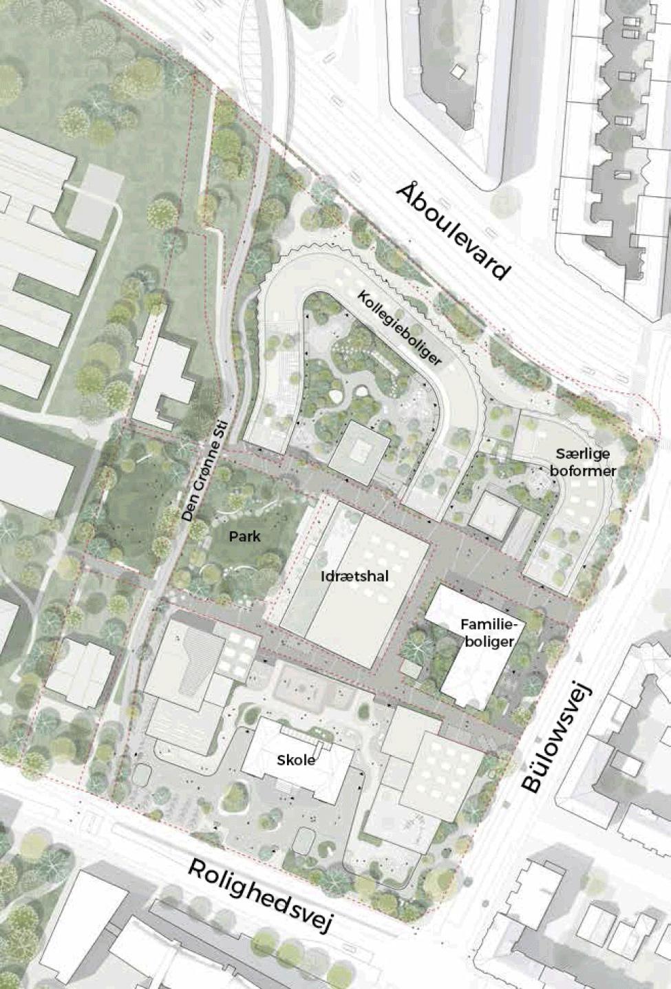 Rolighedsvej Campus plan