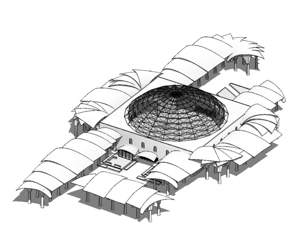 Ny moske Nørrebroparken eksteriør