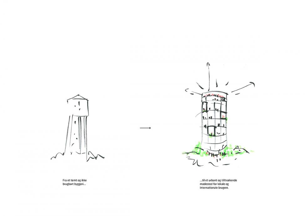 tårnby vandtårn skitse
