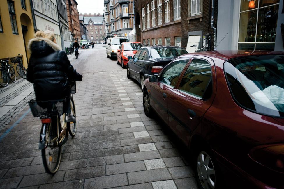 Strædet cyklist parkering biler København 2009