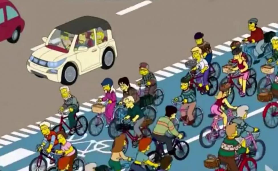 simpsons cykelbaner