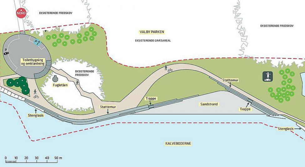 strandpark valbyparken oversigt