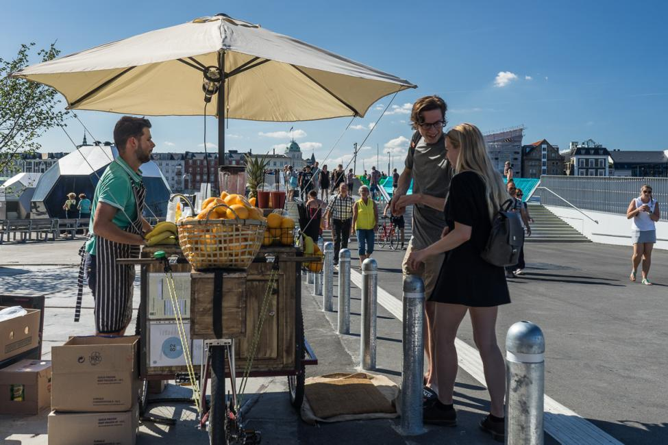 juicecykel ved inderhavnsbroen
