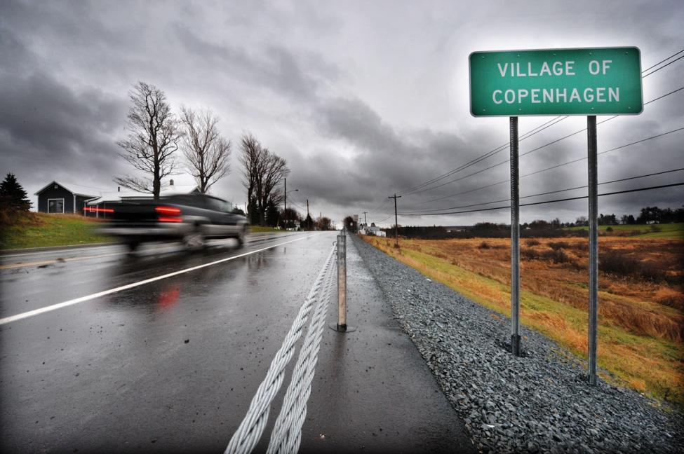 Village of Copenhagen Denmark New York road sign