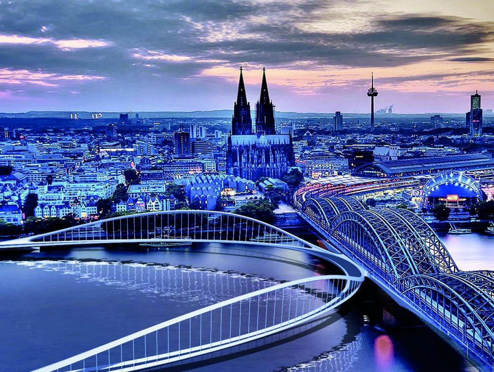 Köln cykelbro
