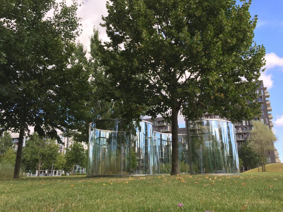 dan graham kunstpark ørestad city