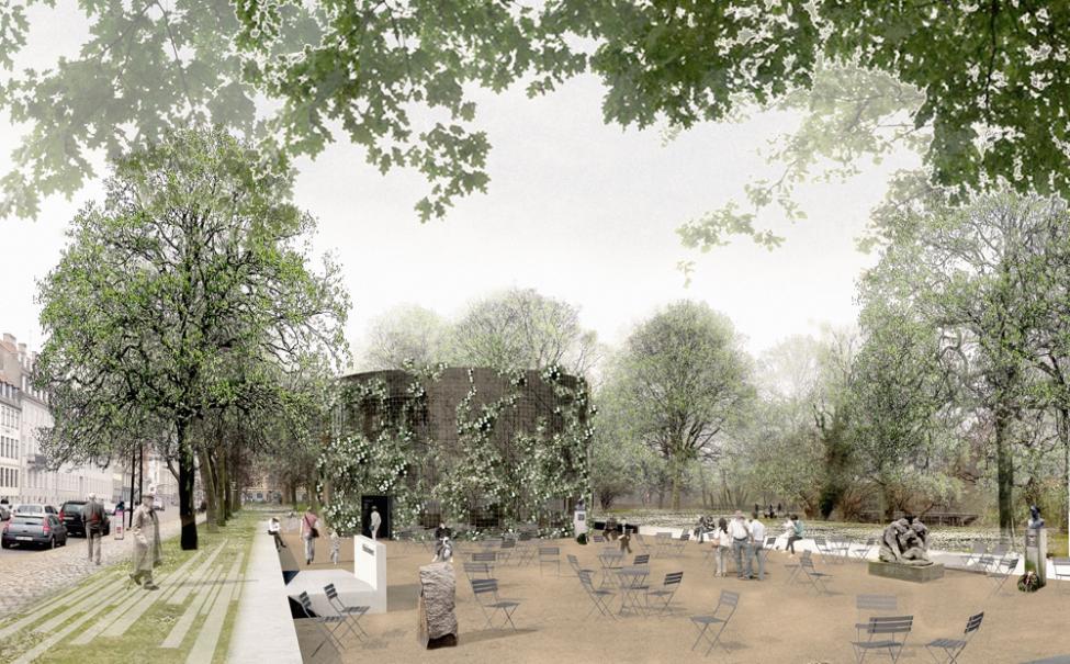 Frihedsmuseet Lundgaard Tranberg set fra parken