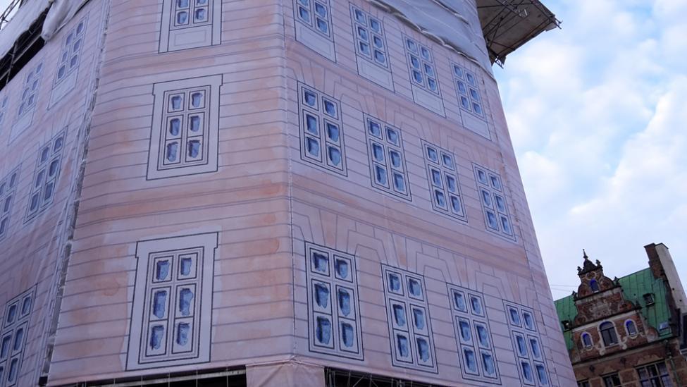 amagertorv stillads detalje