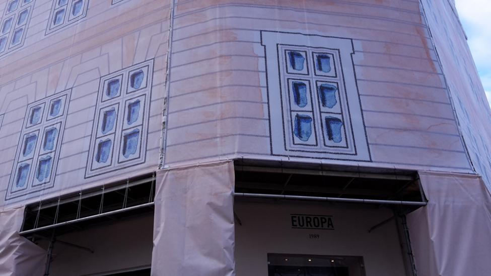 cafe europa stilladsbanner