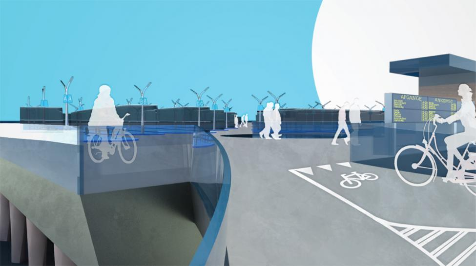 copenhagenize cykelparkering hovedbanen rampe