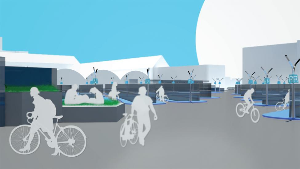 copenhagenize cykelparkering hovedbanen sektioner