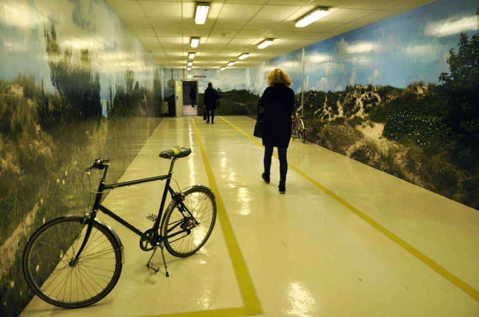 cykelkælder udsmykning Anne Prytz Schaldemose