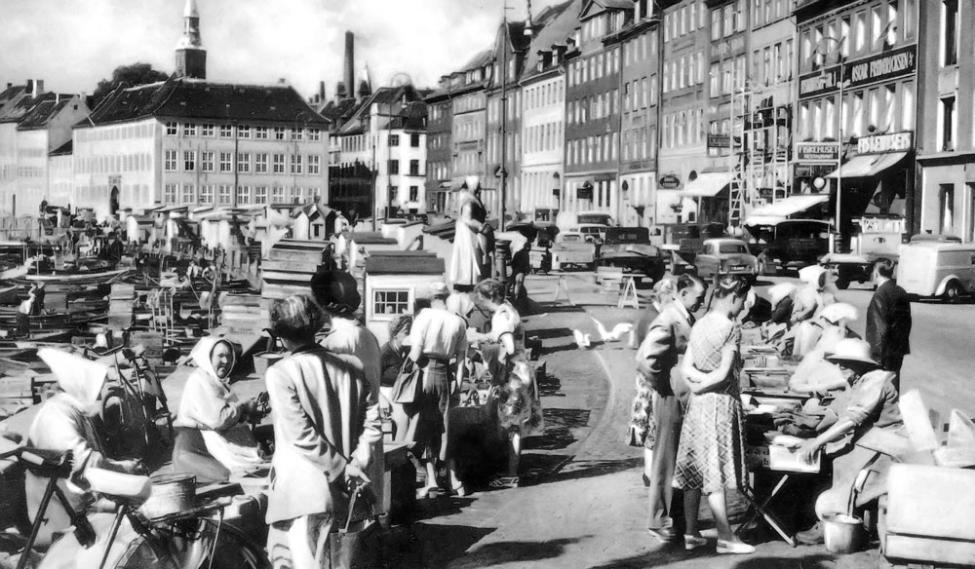 Gammel Strand begyndelsen af 1950erne