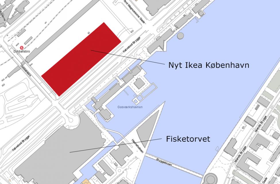 Nyt Ikea København ved Dybbølsbro