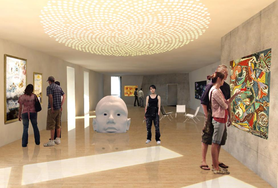 kube udstillingssal