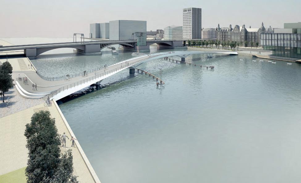 lukket cykelbro langebro