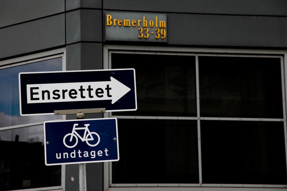 ensrettet cykler undtaget bremerholm