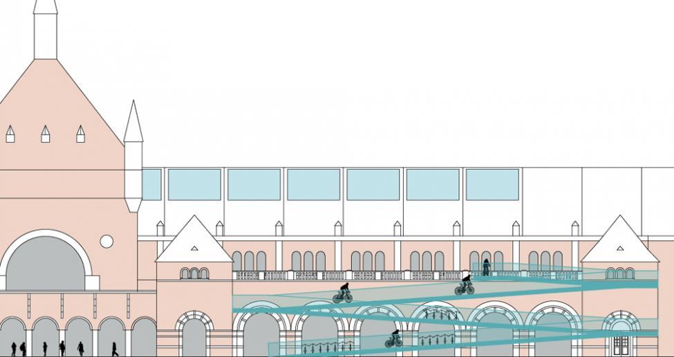 hovedbanegården cph bike station facade