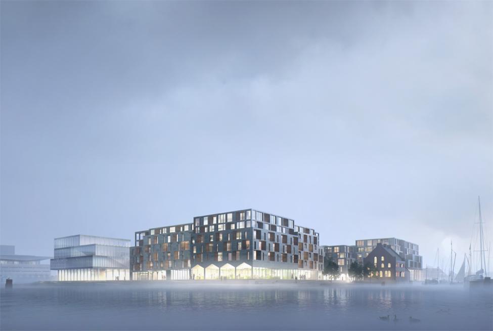 papirøen c. f. møller havnefront