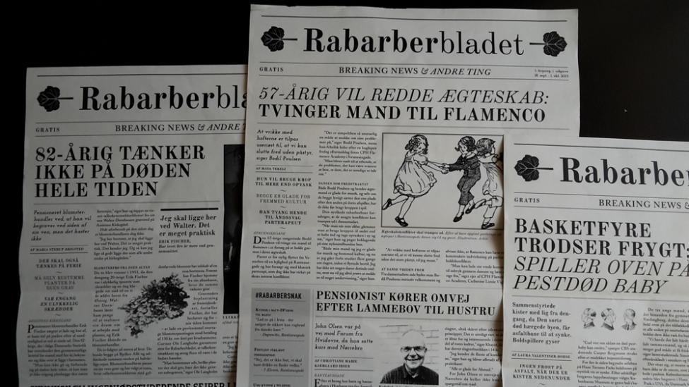 rabarberbladet forsider