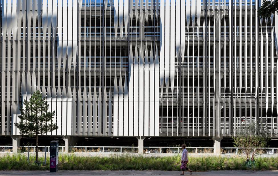 rigshospitalet parkeringshus facade