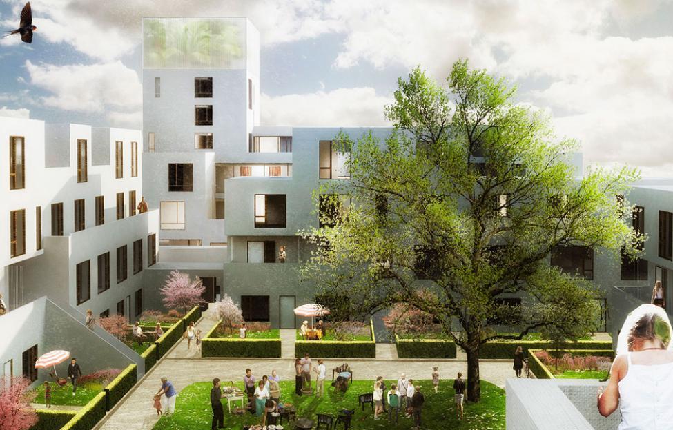 urbanplanen familieboliger gårdrum