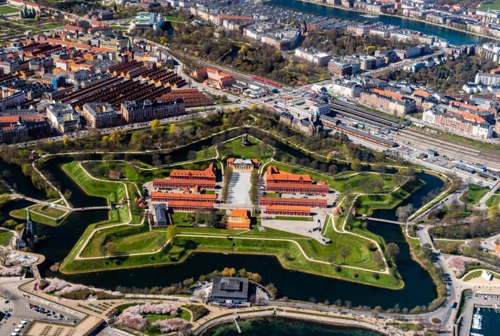 Kastellet Østerbro Luftfoto
