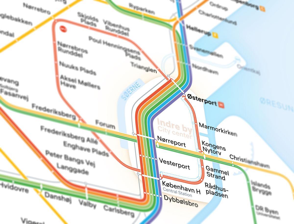 Nyt Kort Over Kobenhavns Transportsystem Er Uofficielt Magasinet Kbh